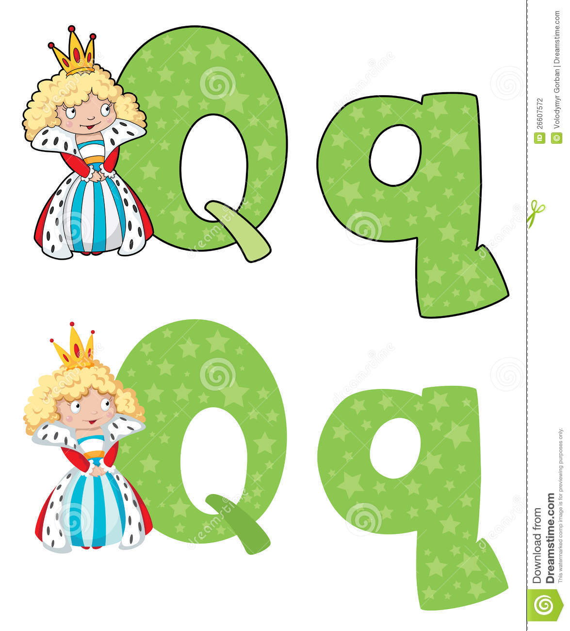 Letter Q Queen Stock Vector Illustration Of Princess