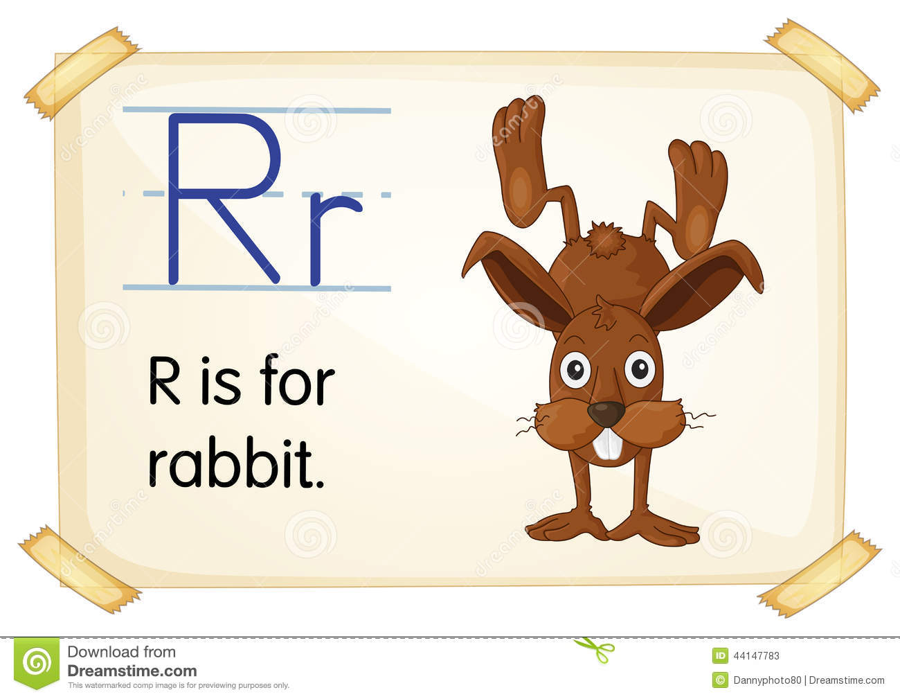 Letter R Stock Vector Image Of Card Hare School Animal