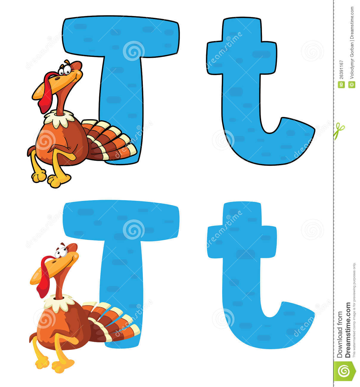 Letter T Turkey Royalty Free Stock Photography