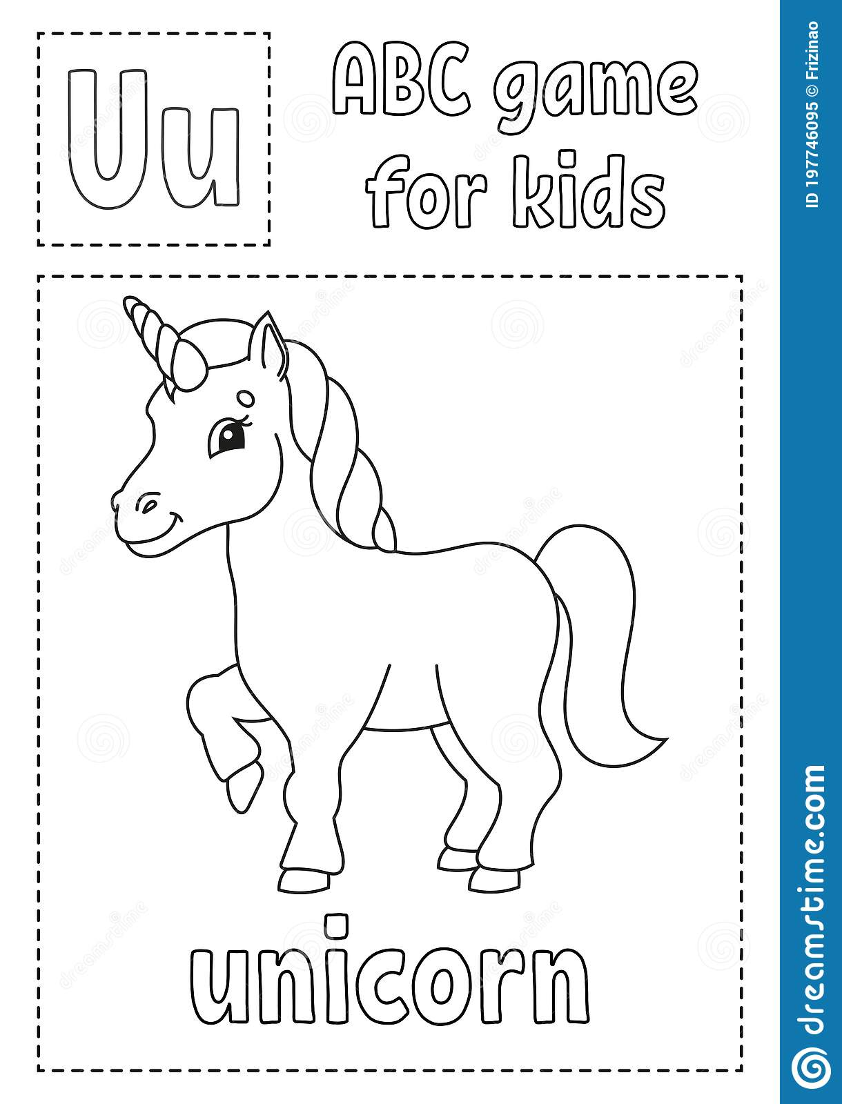 Letter U Is For Unicorn Abc Game For Kids Alphabet