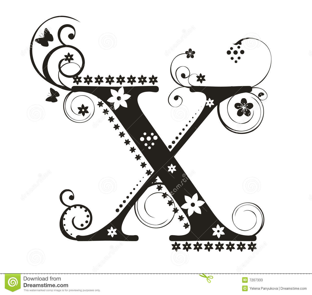 Letter X Stock Vector Illustration Of Vector Font