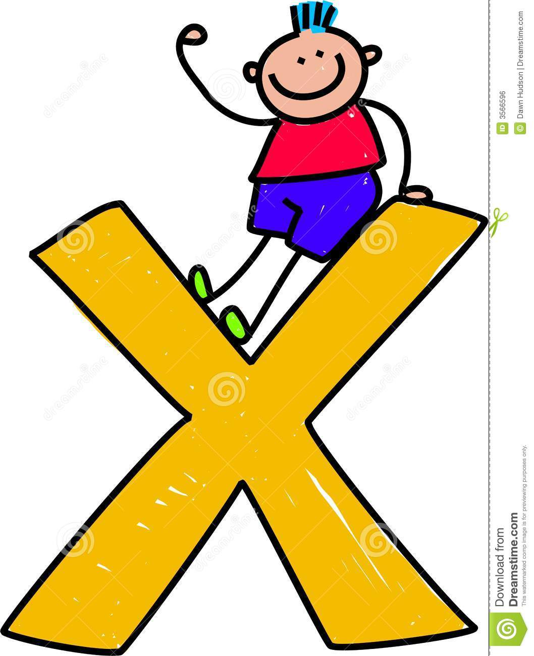 Letter X Boy Royalty Free Stock Image