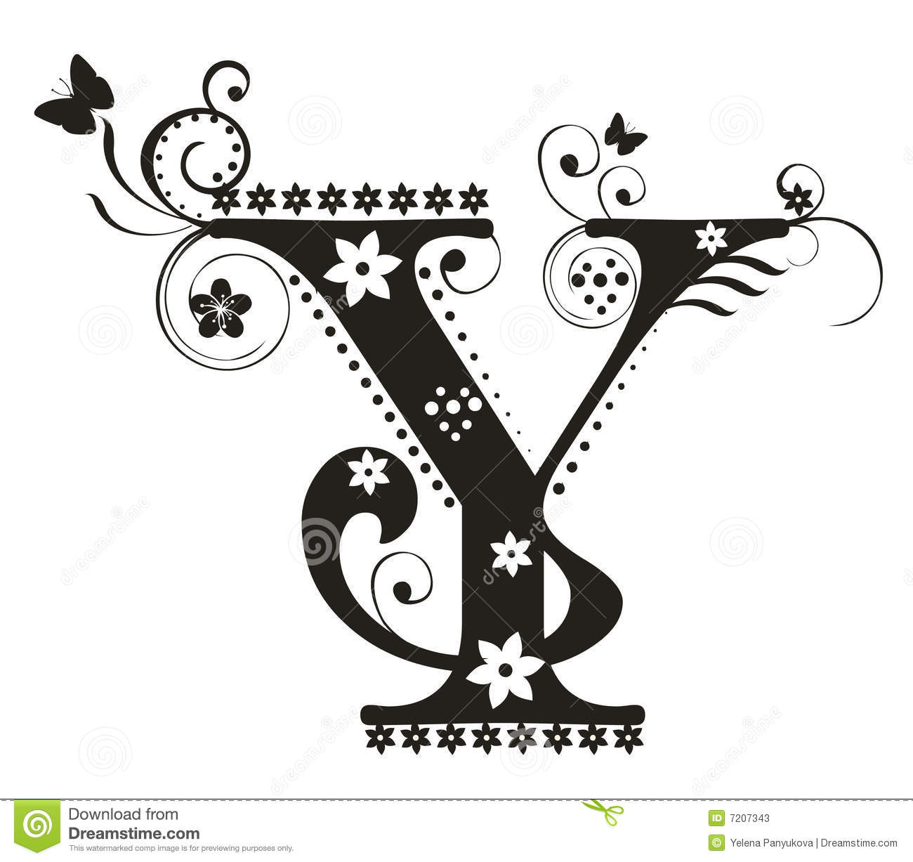 Letter Y Stock Vector Image Of Flores Typography Design