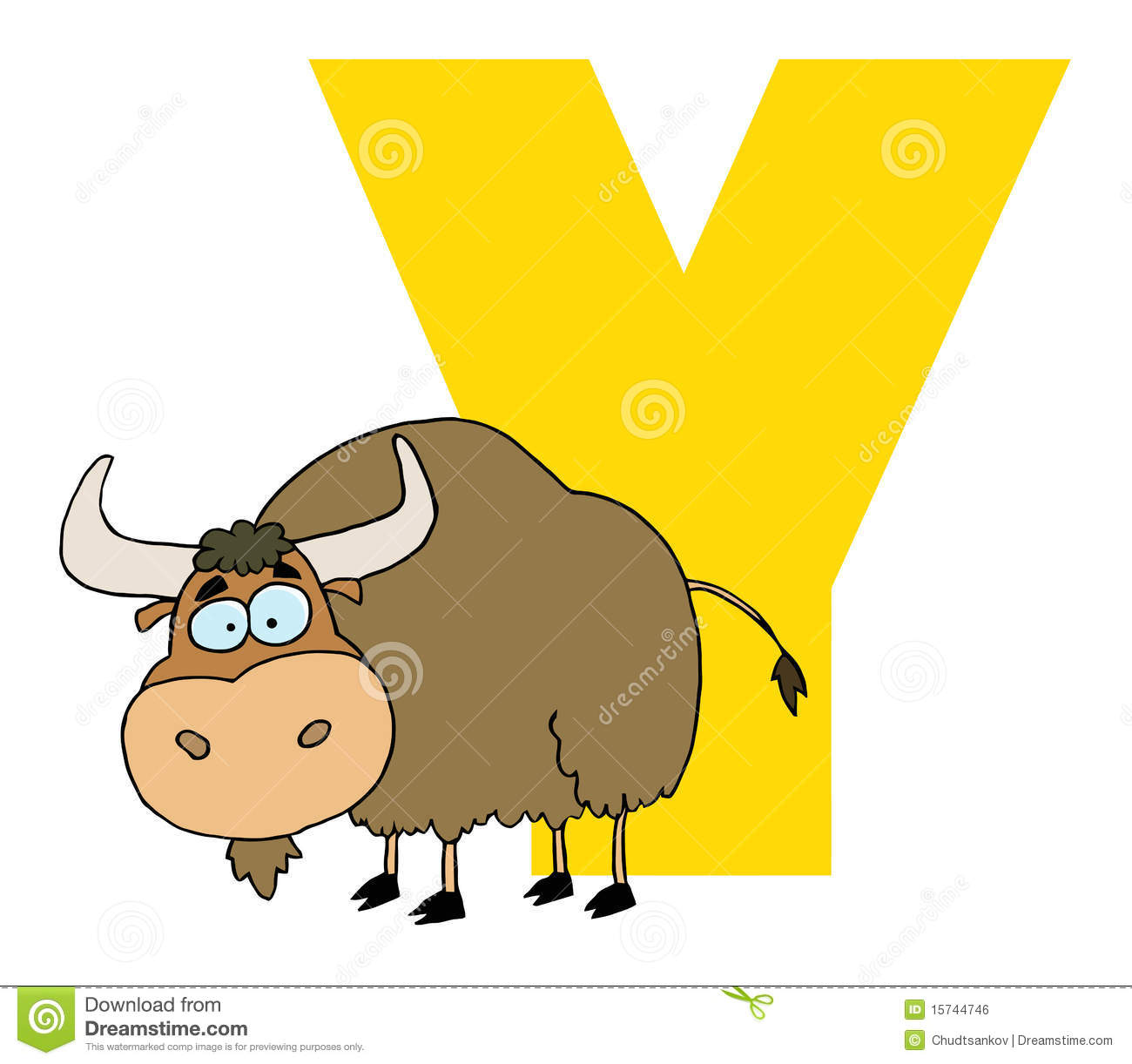 Letter Y With A Yak Stock Vector Illustration Of Graphics