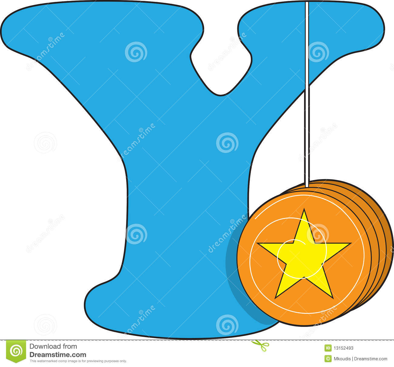 Letter Y With A Yoyo Stock Photos