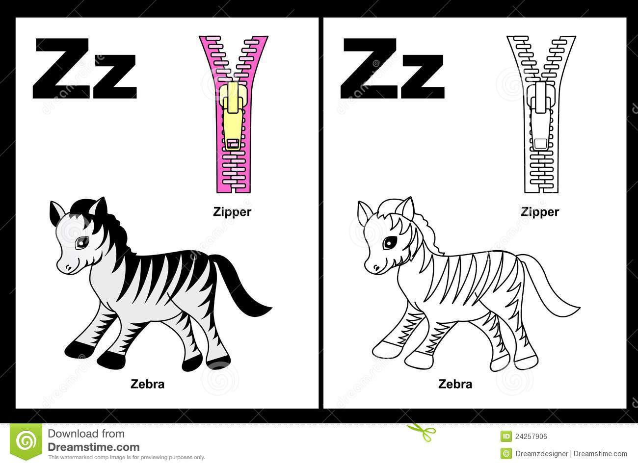 Letter Z Worksheet Royalty Free Stock Image