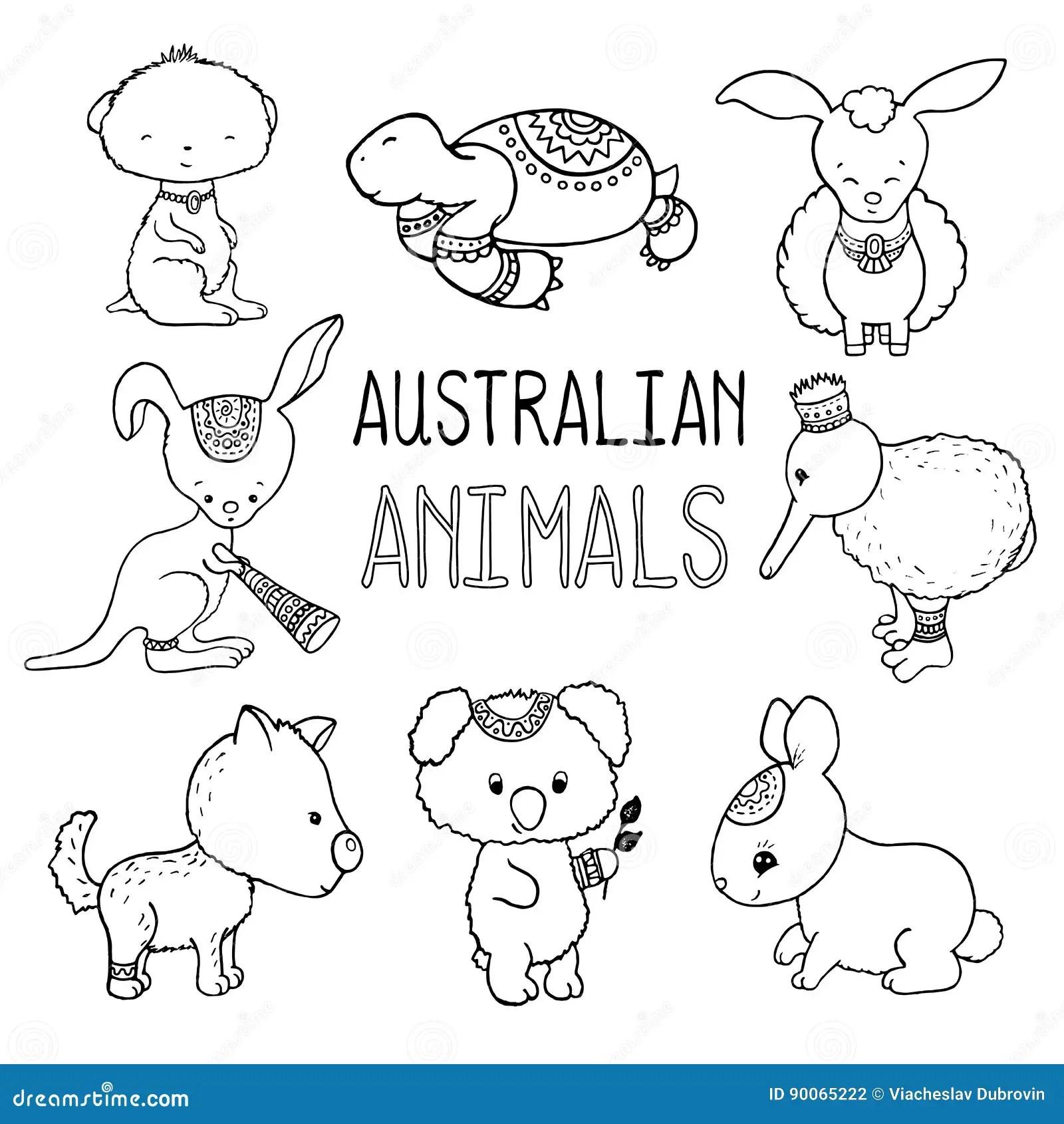Leuke Australischeren Geschetste Tekeningren Van