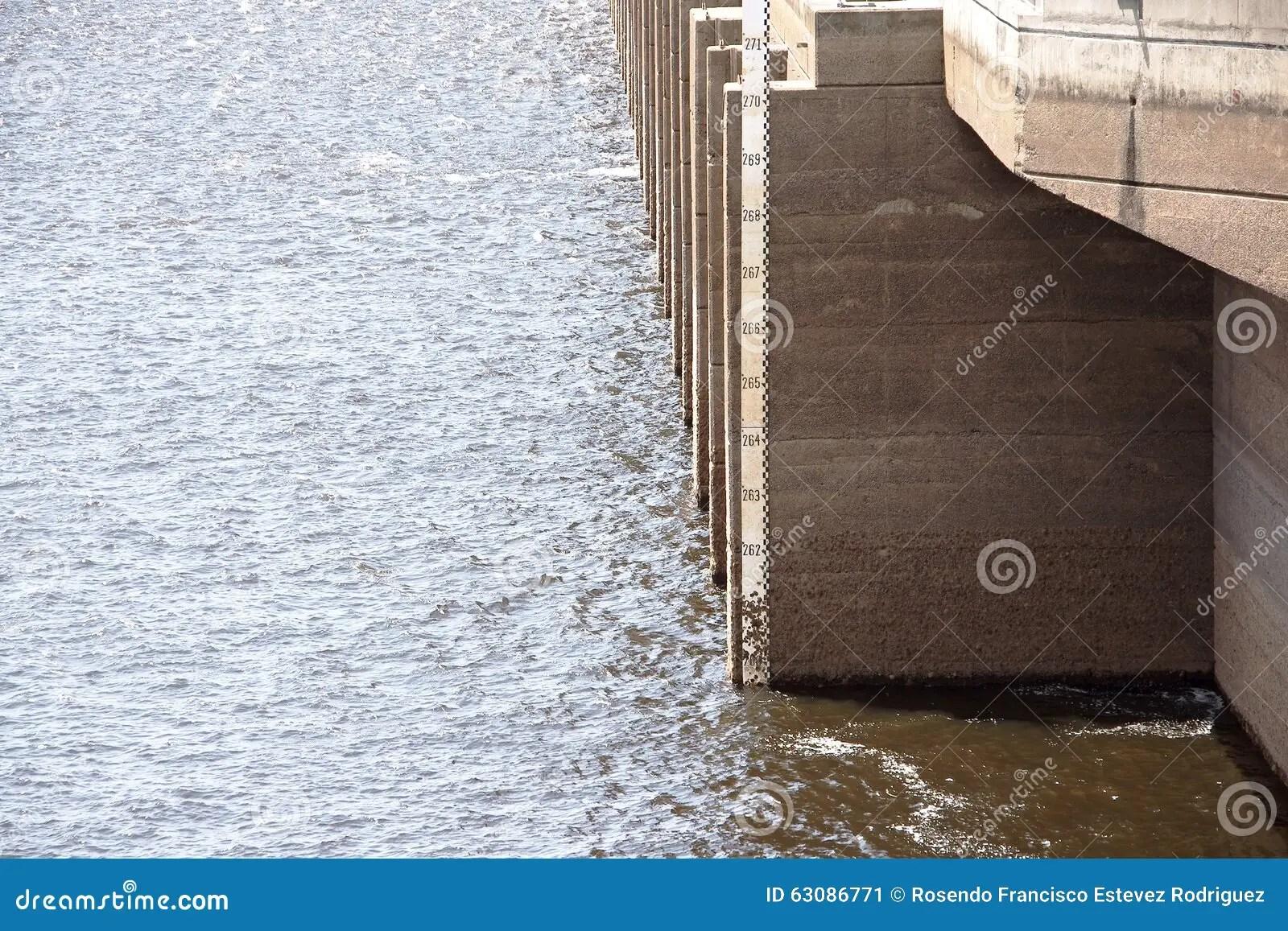 Level Indicator Stock Image Image Of Lake Guri River