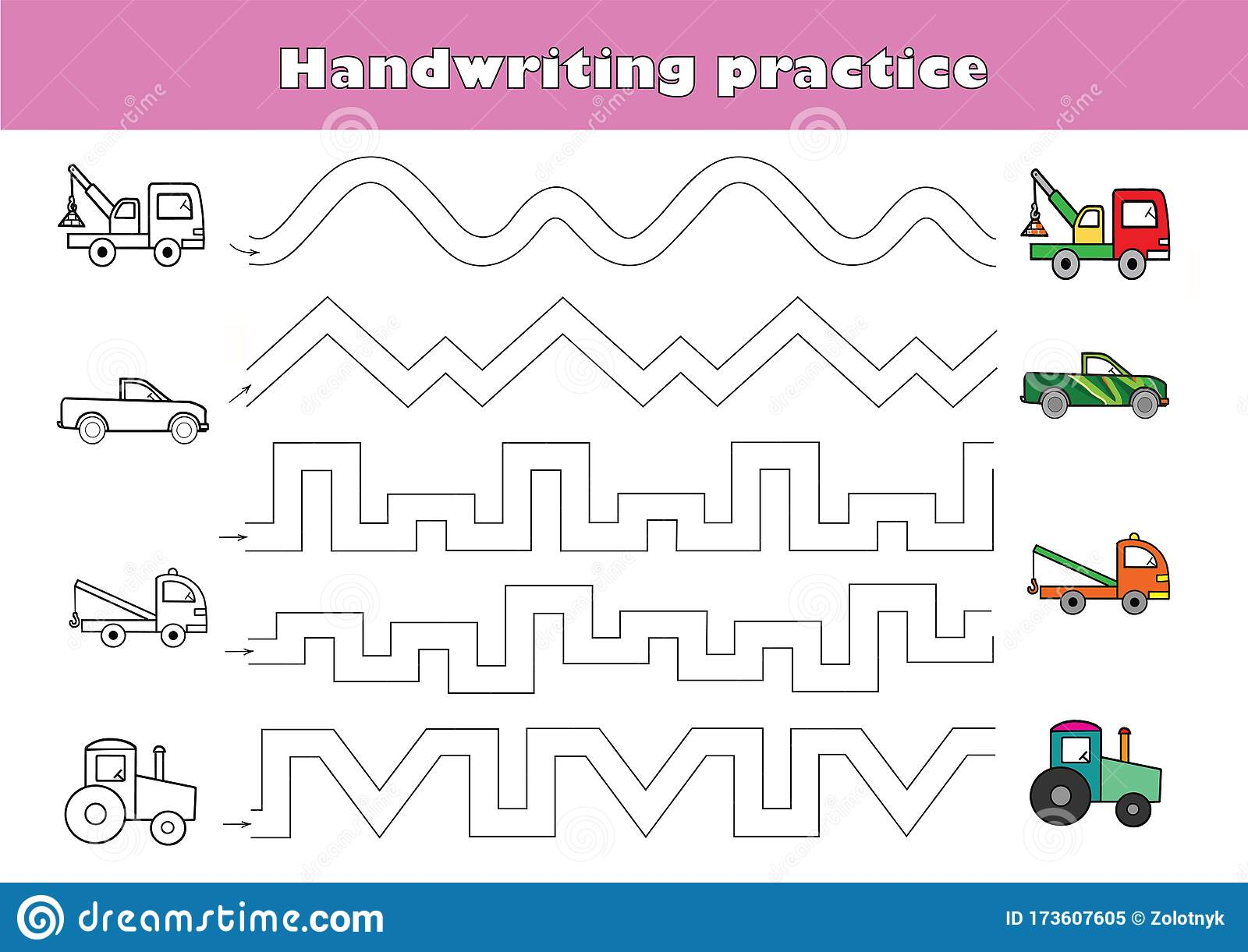 Lhandwriting Practice Sheet Educational Children Game