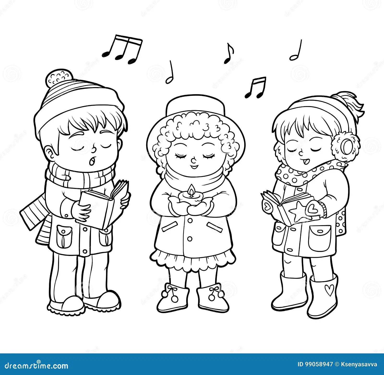 Libro Da Colorare Coro Di Natale Dei Bambini