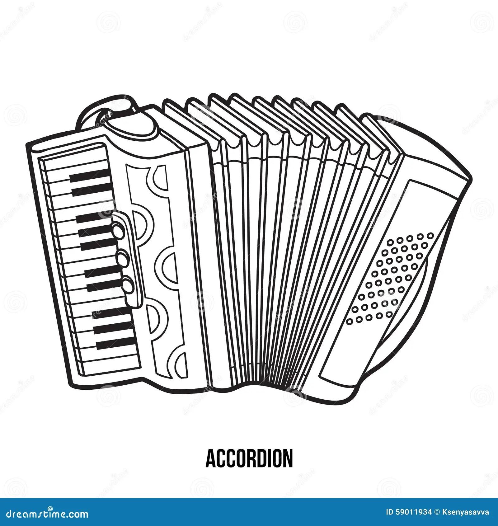 Libro Da Colorare Strumenti Musicali Fisarmonica