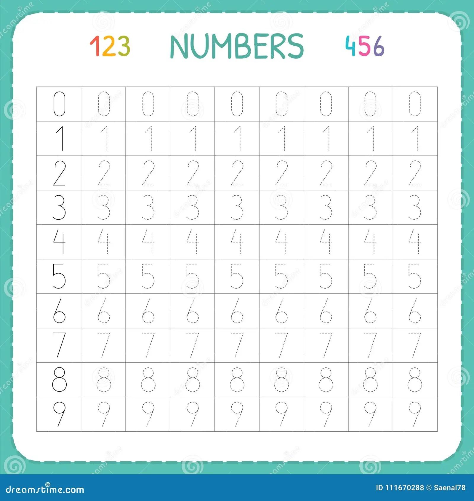 Liczby Dla Dzieciakow Worksheet Dla Dziecina I Preschool Trenowa Pisa Liczbach I Liczy Tropi