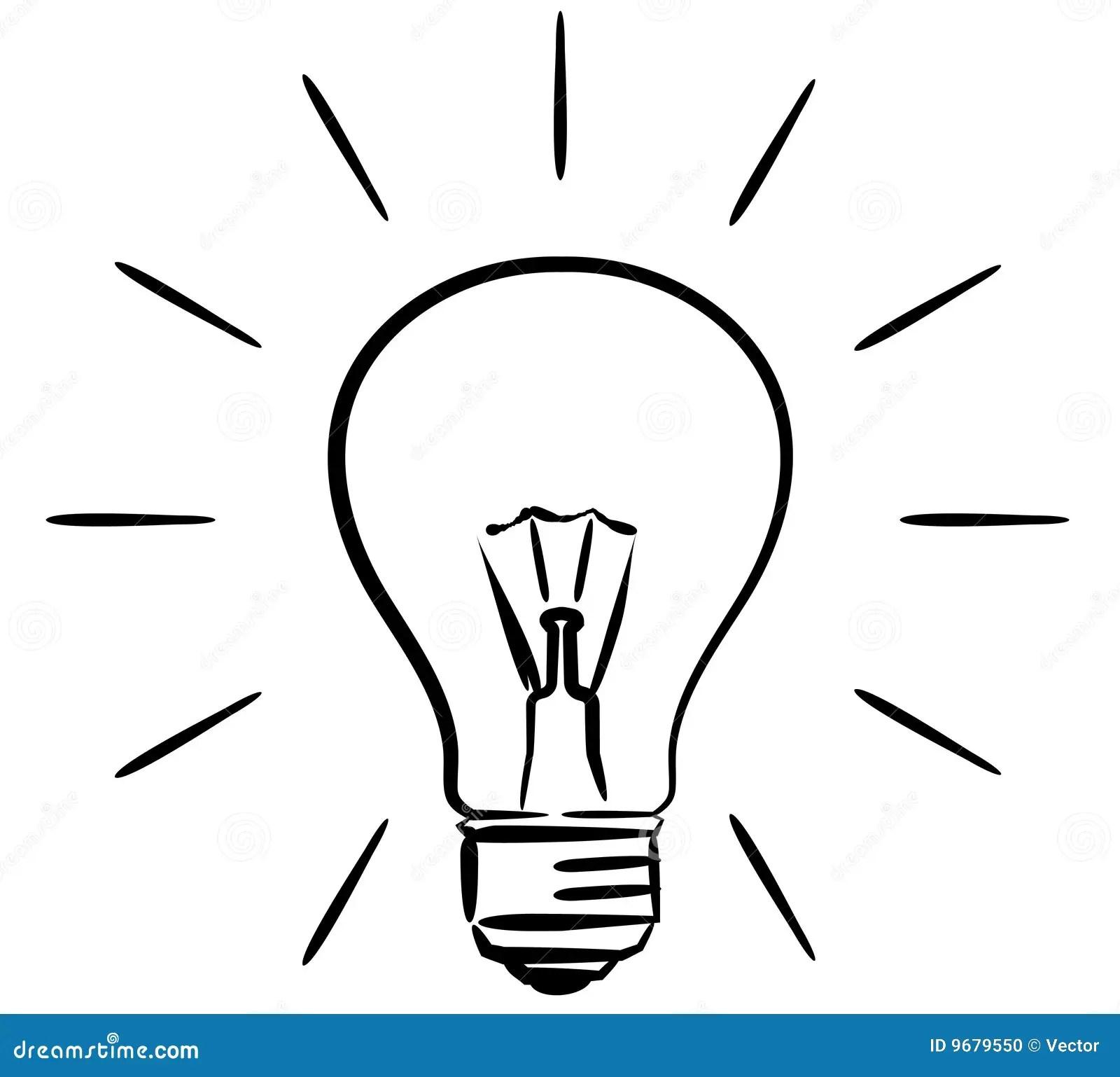 Light Bulb Vector Illustration Stock Vector