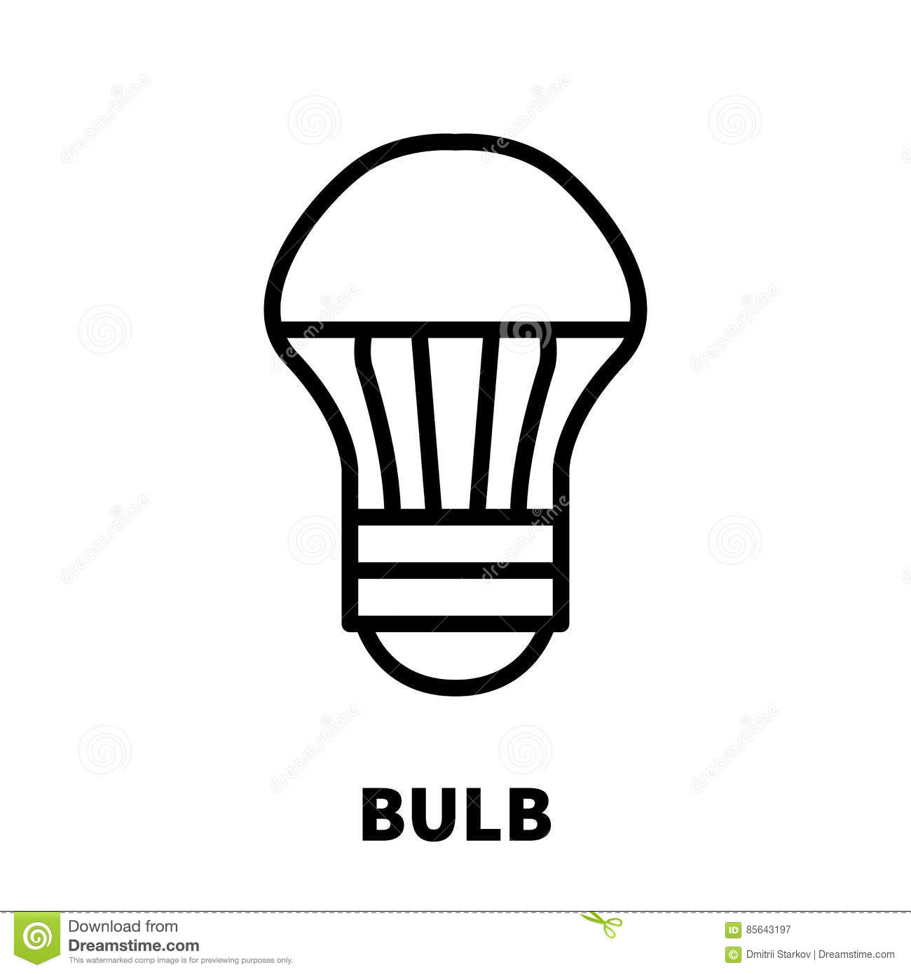 Light Bulb Icon Or Logo In Modern Line Style Stock Vector