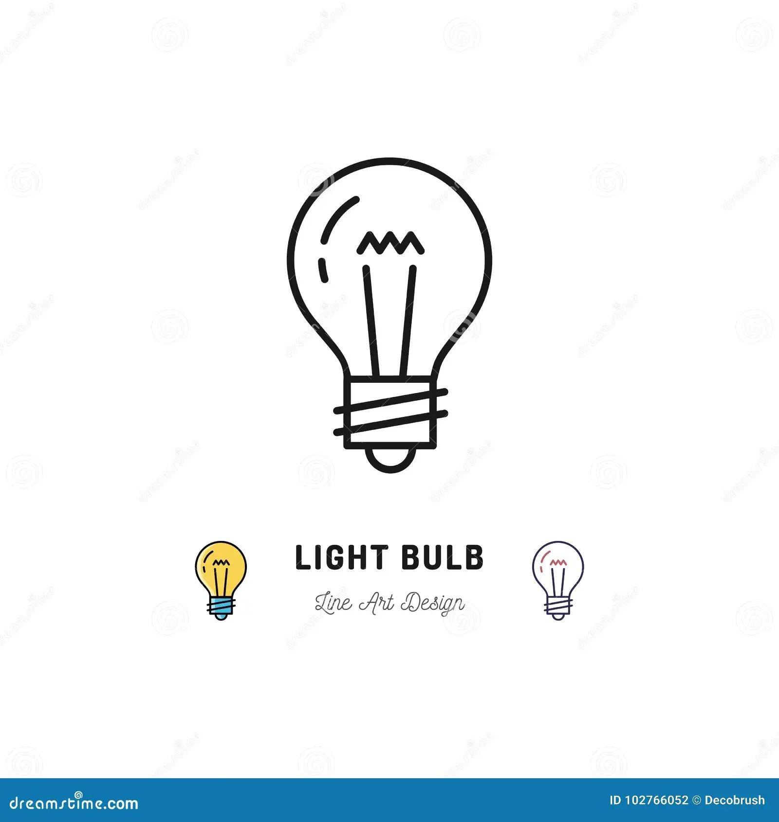 Light Bulb Icons Idea Icon Lightbulb Thin Line Art Icons