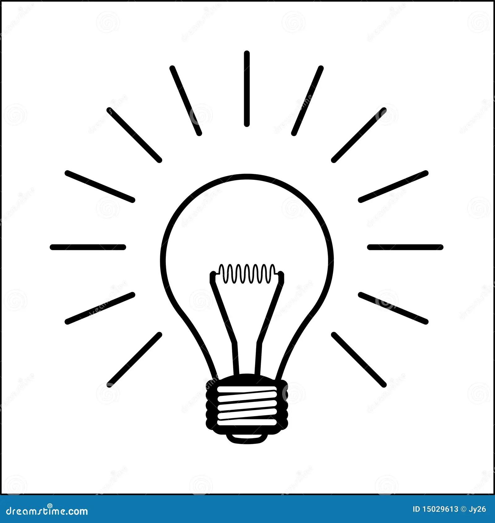 Light Bulb Illustration Stock Photos