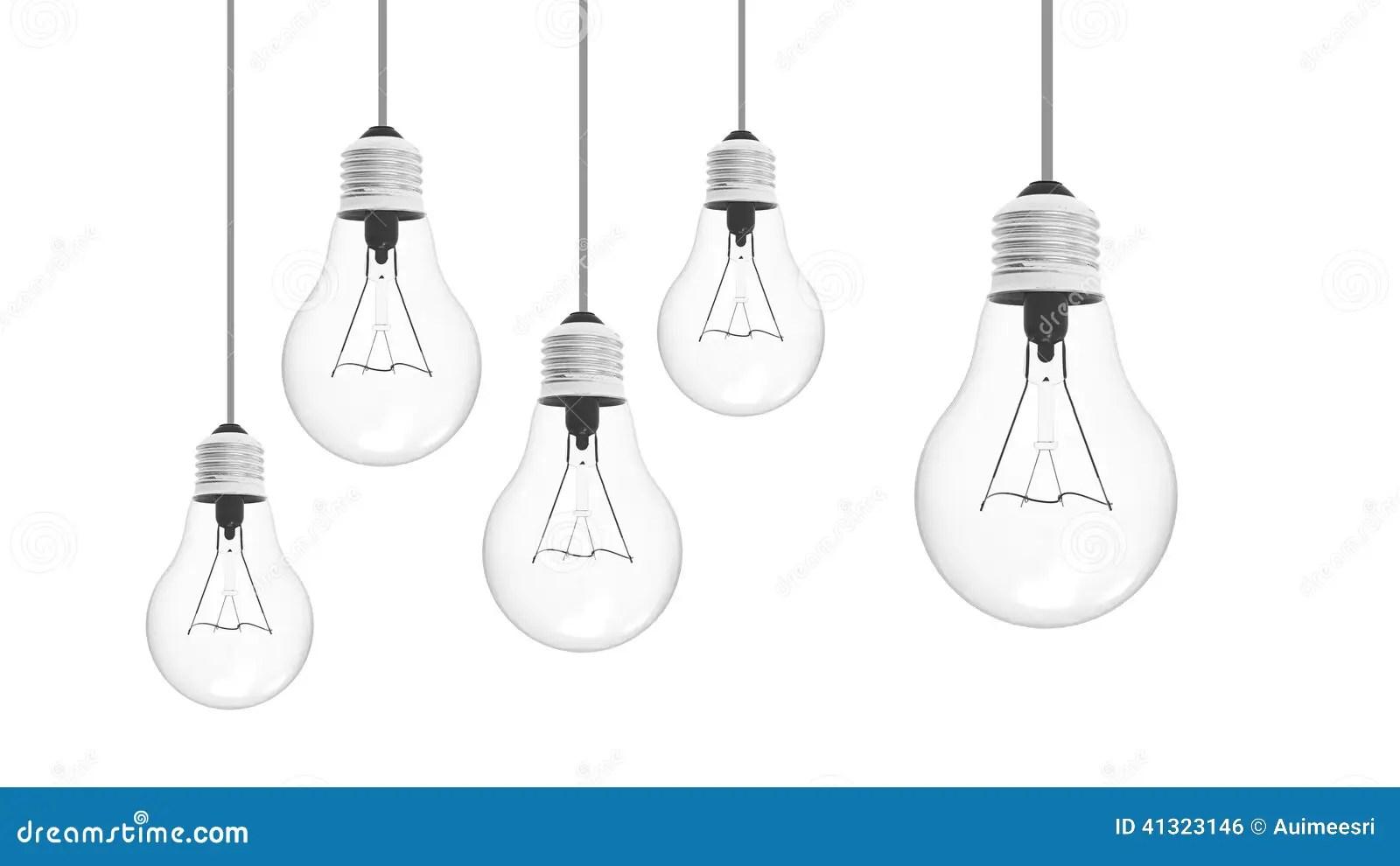 Light Bulb Stock Illustration Illustration Of White
