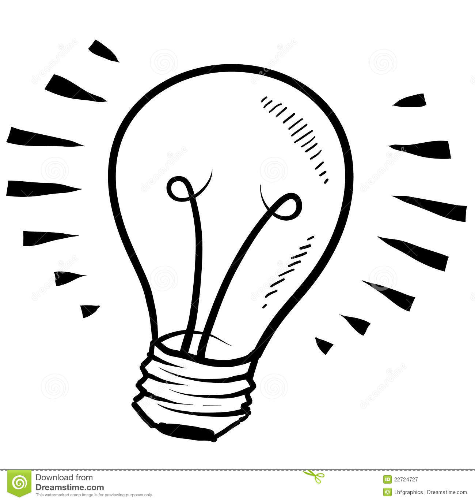 Light Bulb Sketch Royalty Free Stock Photography