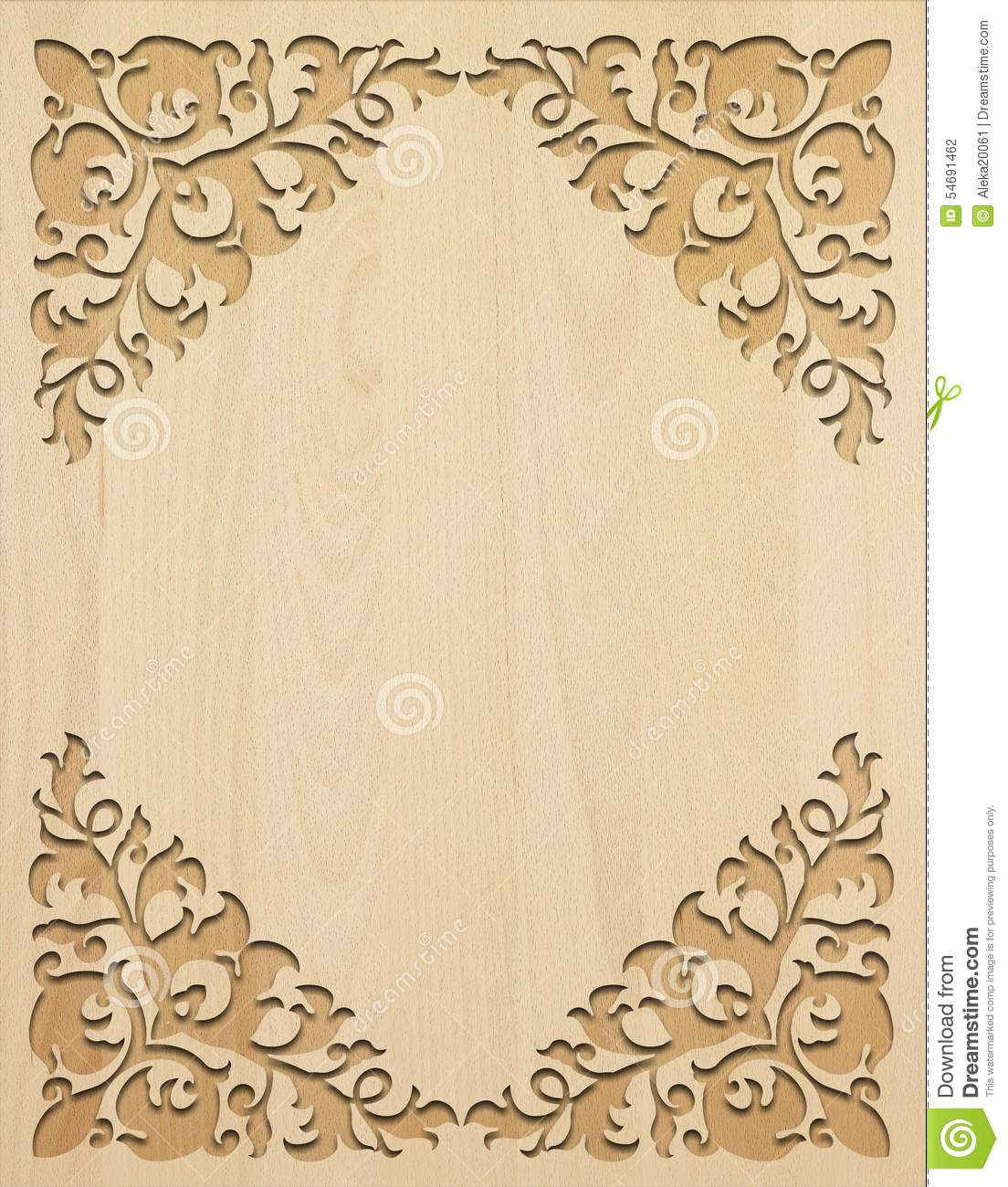Light Carved Wooden Background Stock Photo Image 54691462