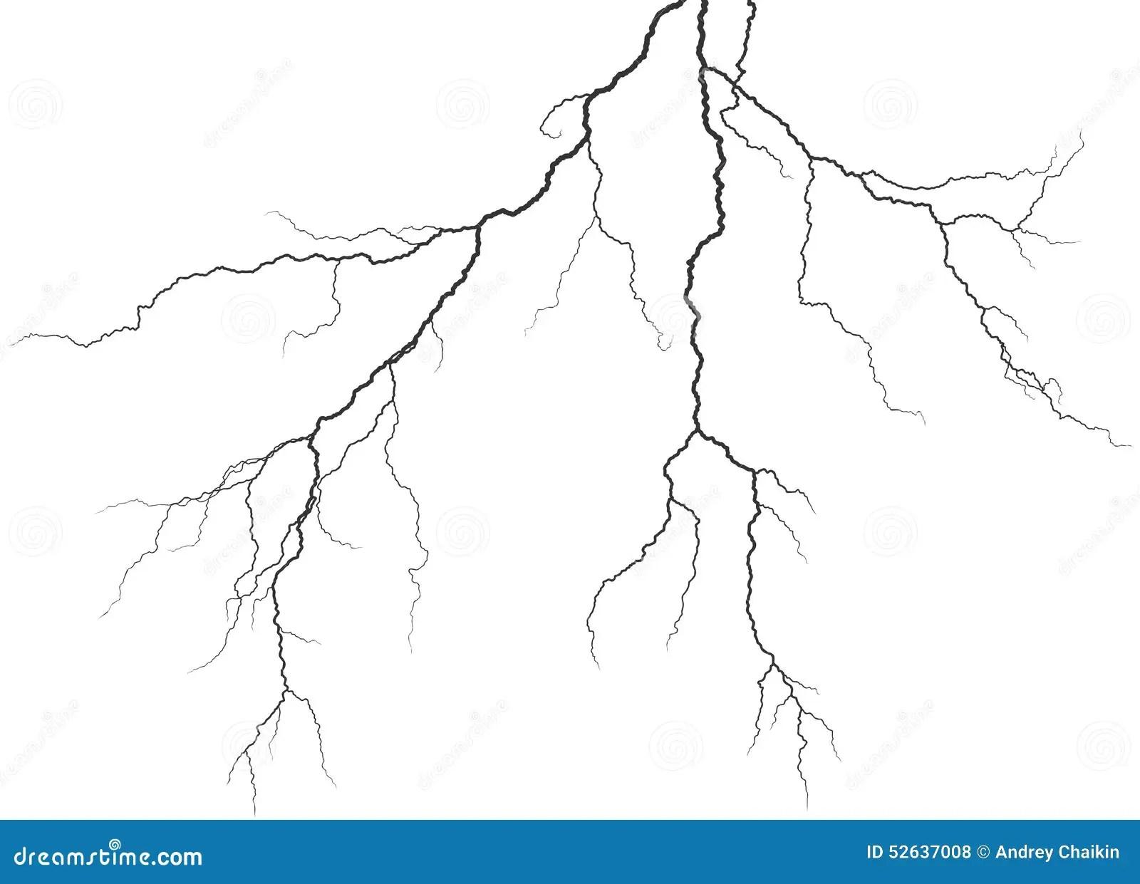 Lightning Stock Vector Illustration Of Stroke Drawing