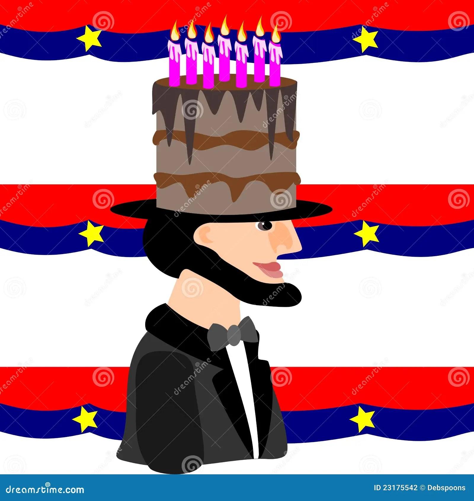 Lincoln S Birthday Stock Vector Illustration Of Celebrate