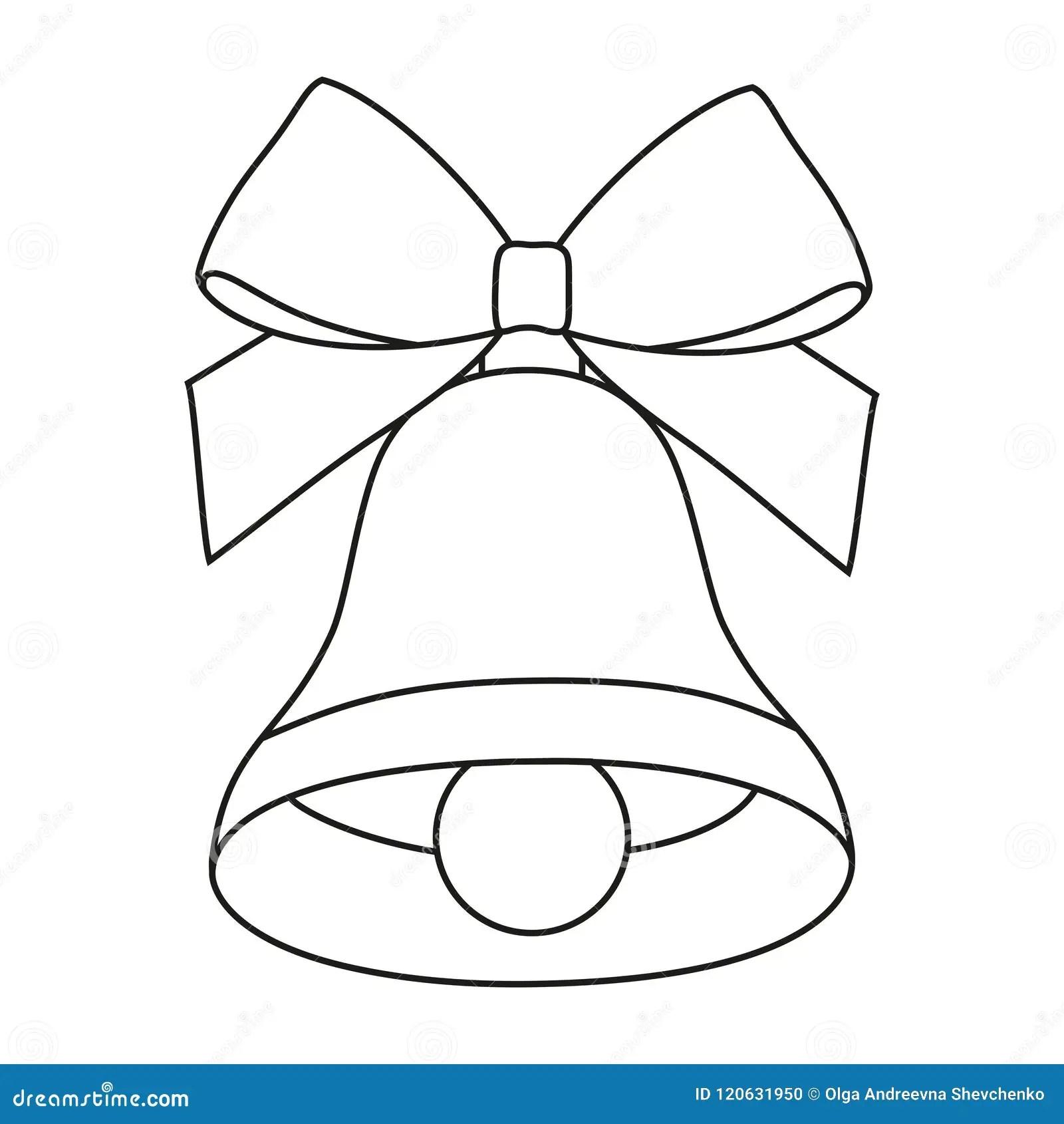 Line Art Black And White Bell Stock Vector