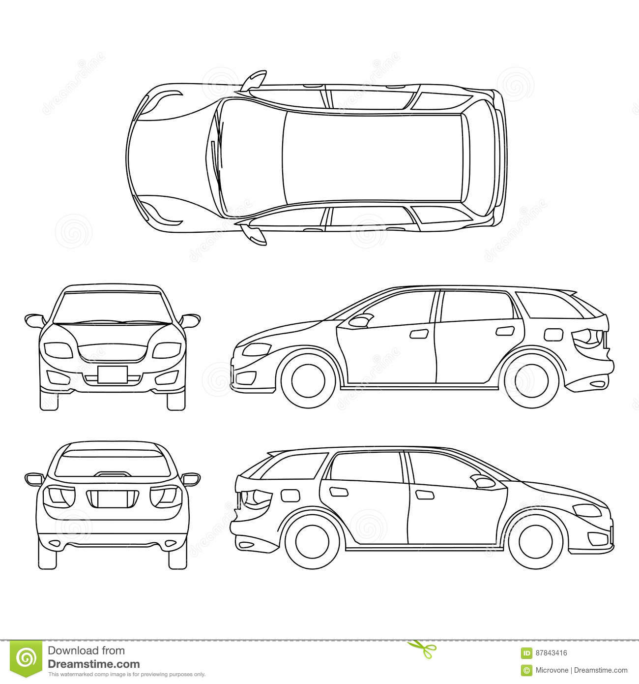 Line Drawing Of Car White Vehicle Vector Computer Art