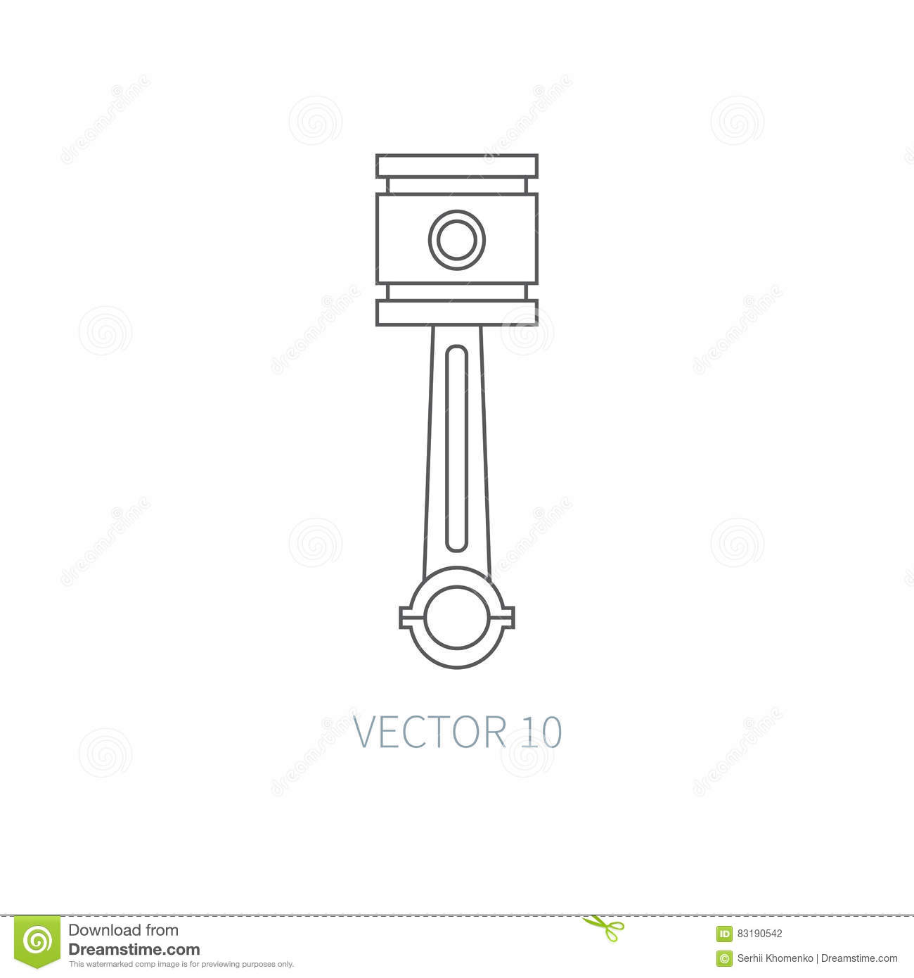 Line Flat Vector Icon Car Repair Part