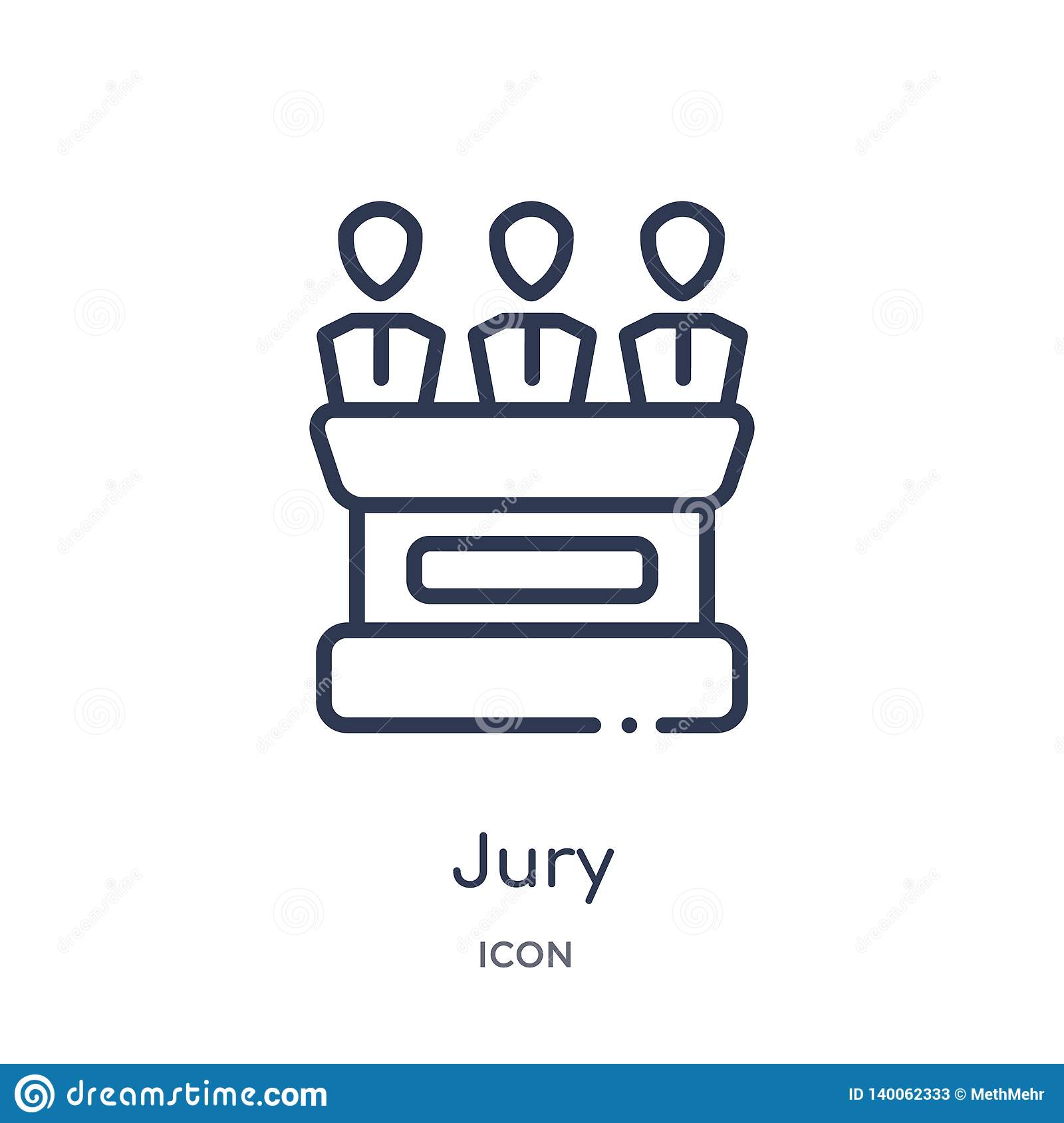 Linear Jury Icon From Law And Justice Outline Collection