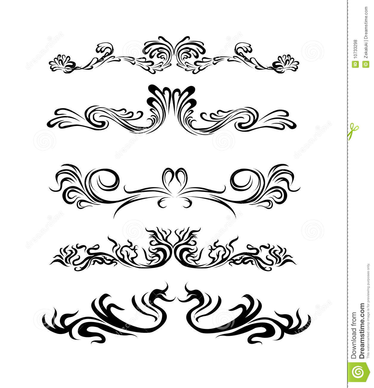 Lines Design Elements Of Different Styles Royalty Free