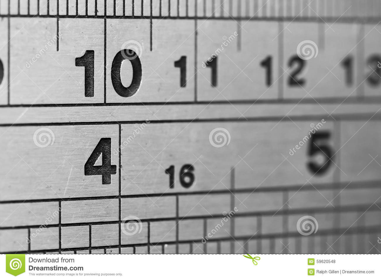 Lines And Numbers Stock Photo Image Of Numbers Inches