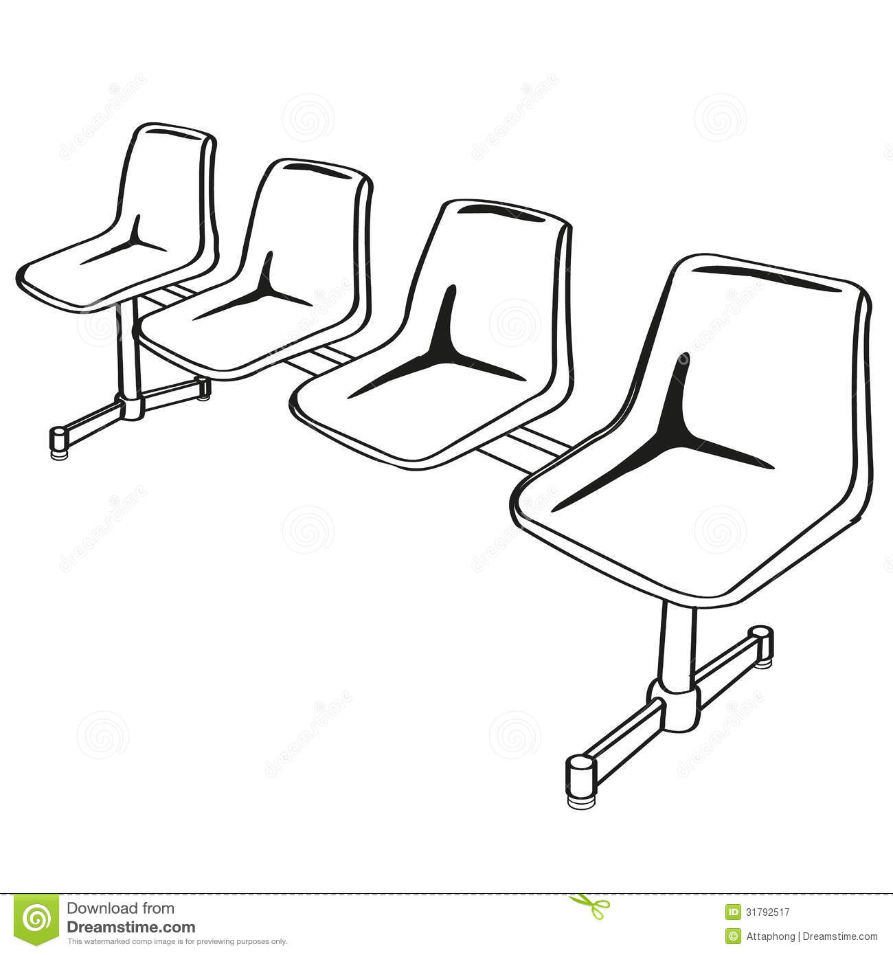 Link Chairs Outline Vector Royalty Free Stock Photography