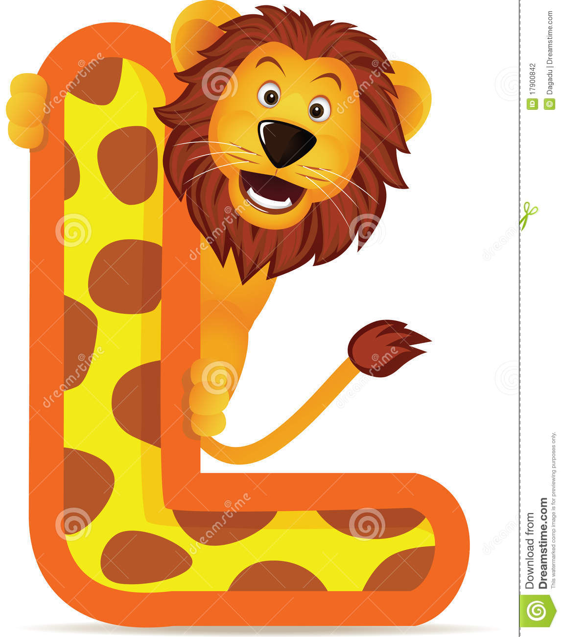 Lion With Alphabet L Stock Vector Illustration Of