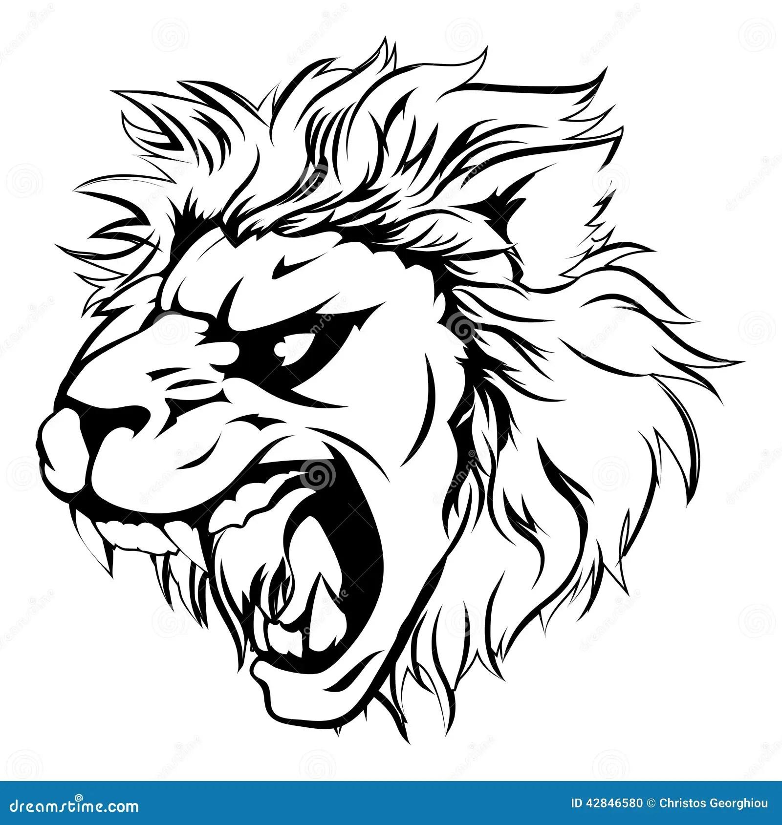Lion Animal Mascot Stock Vector Illustration Of Anger
