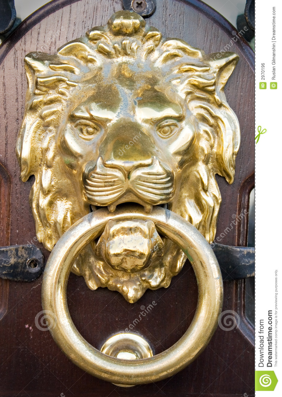 Lion Head Stock Photo Image Of Entrance Decoration Knob