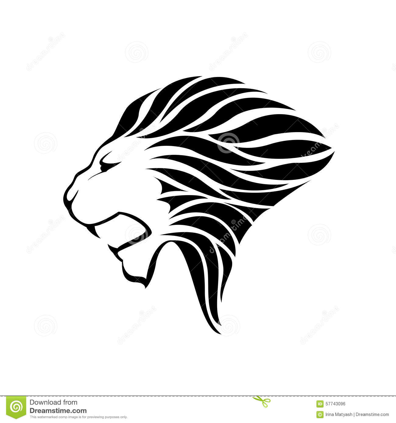 Lion Head Silhouette Stock Vector Illustration Of Symbol