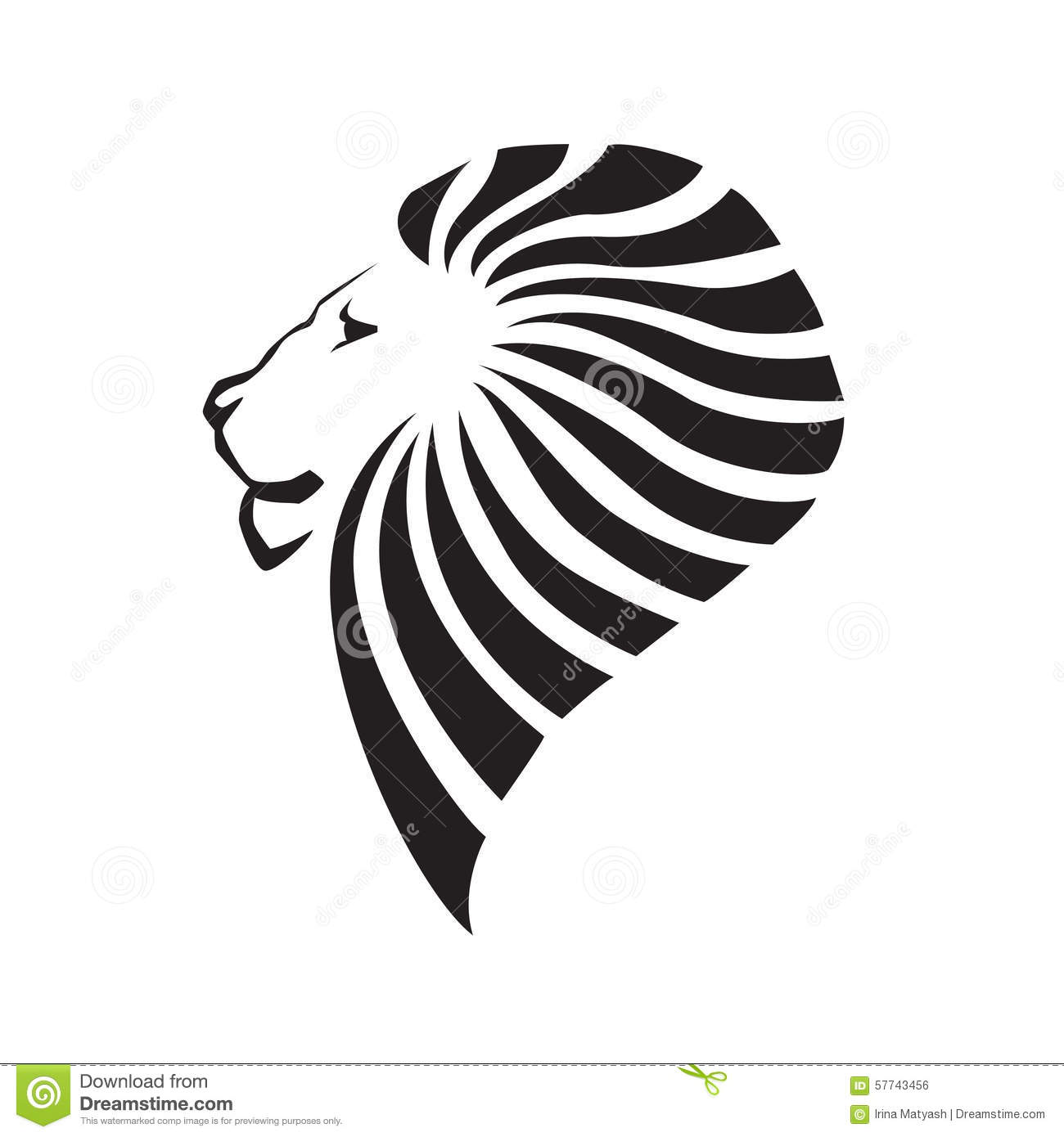Lion Head Silhouette Stock Vector