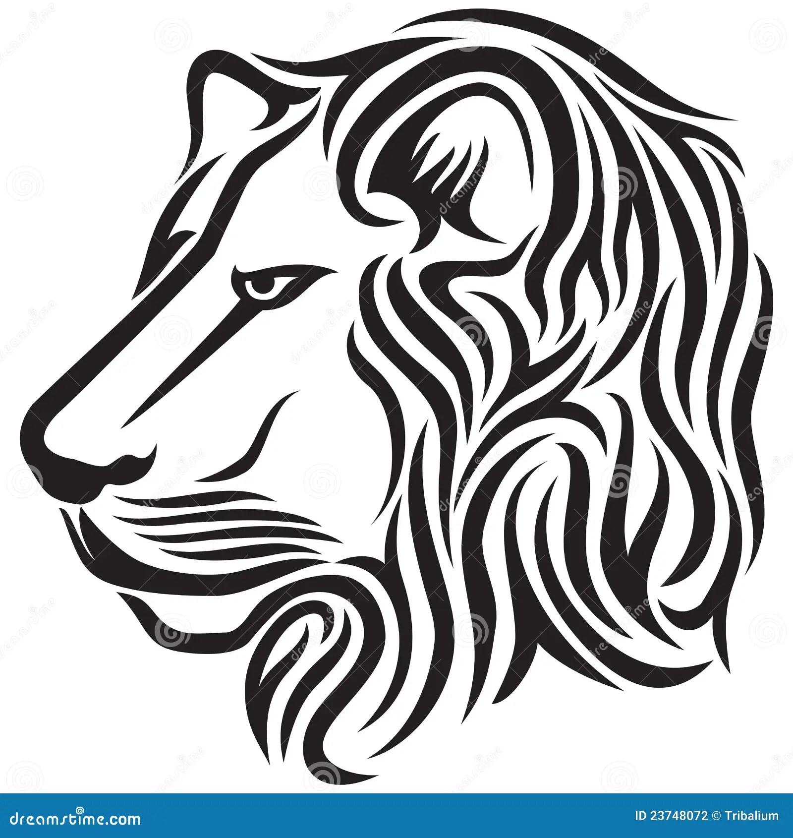 Lion Head Tribal Tattoo Stock Vector Image Of Aggressive