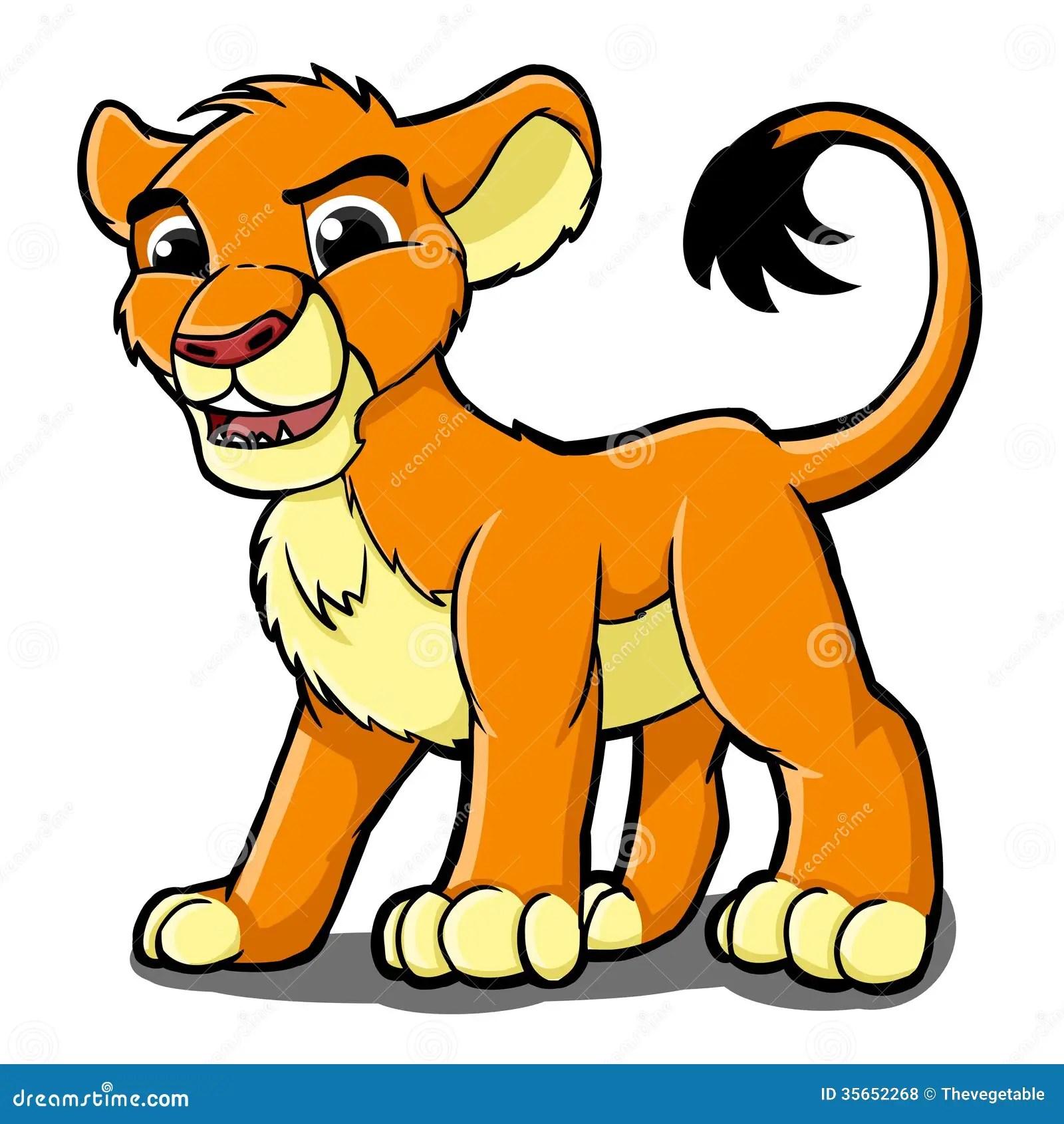 Lion Stock Illustration Image Of Life Kitten Mammal