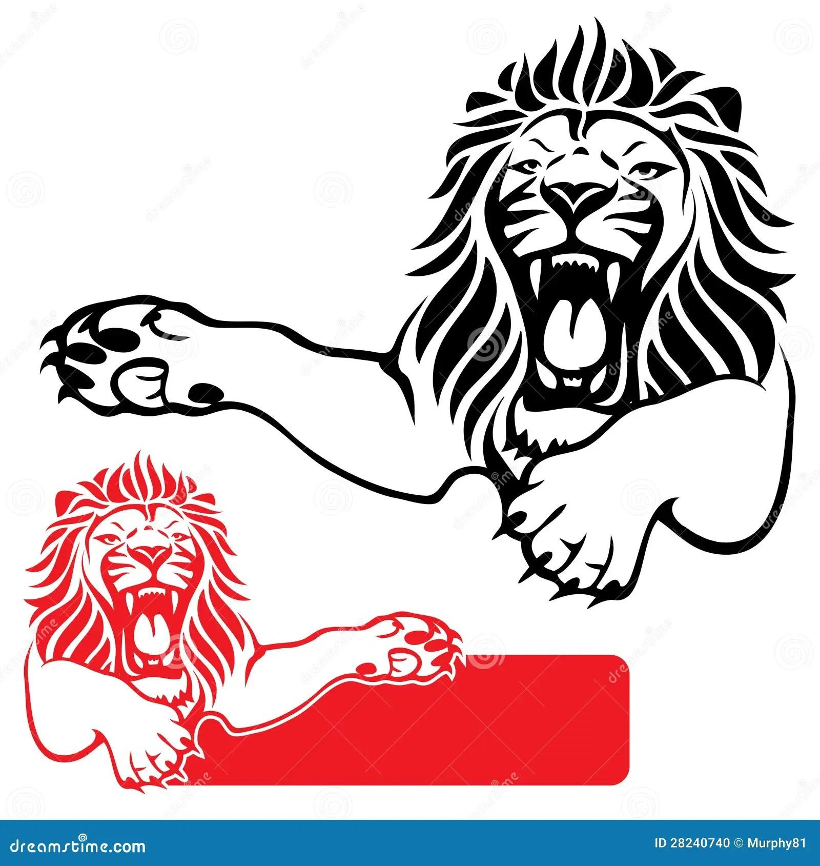 Lion Label Stock Vector Illustration Of Feline Carnivore