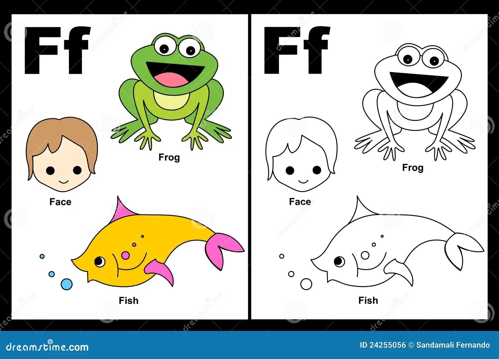 Listowy F Worksheet Ilustracja Wektor Ilustracja Z O Onej