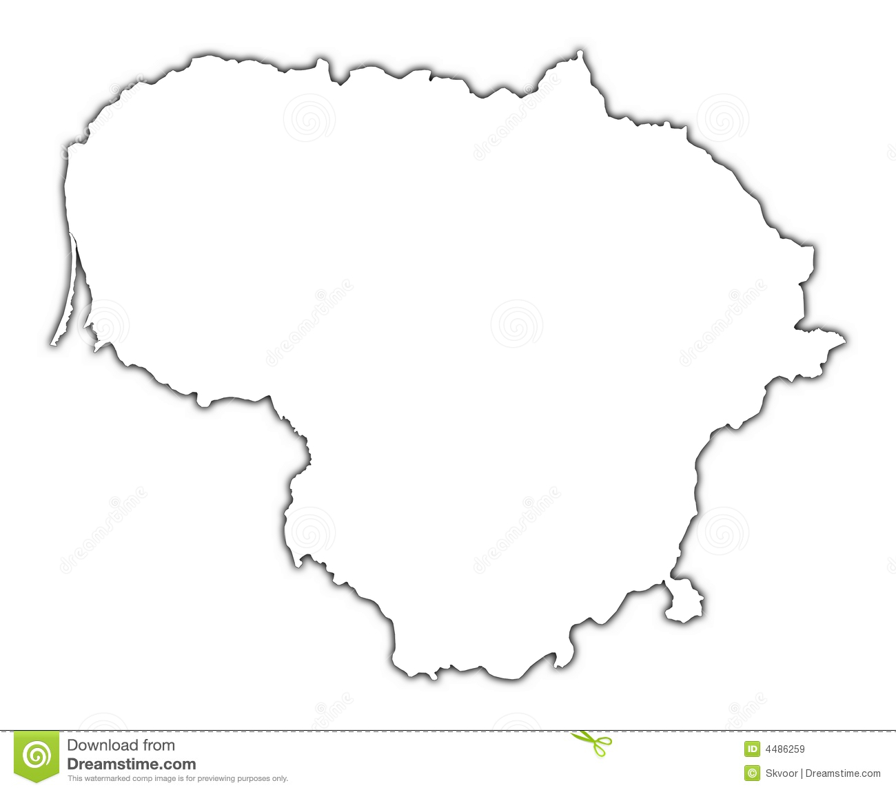 Lithuania Outline Map Stock Illustration Image Of Borders