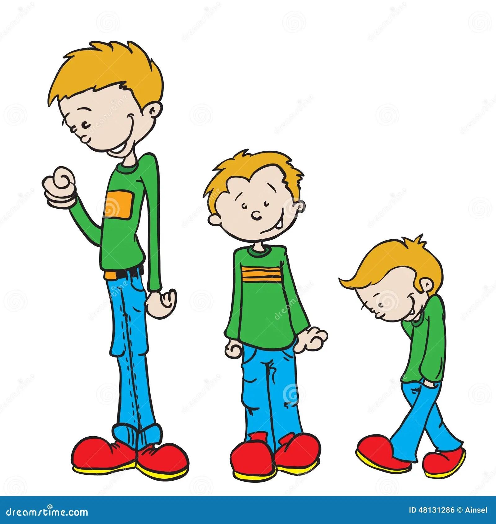 Little Boy Grow Stock Illustration