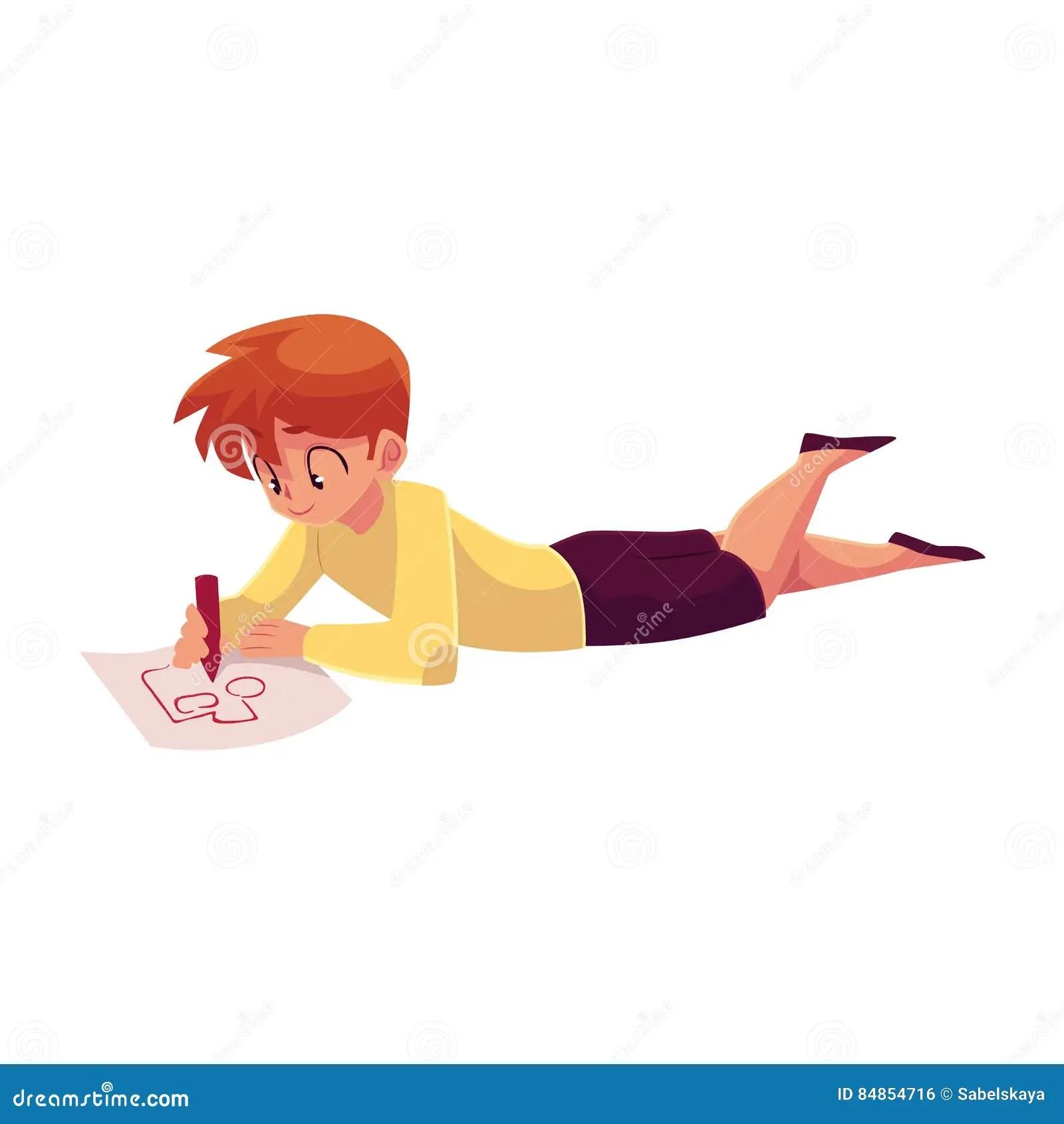 Drawing Boy Laying Down