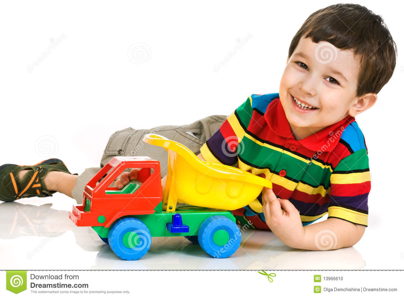 Little Boy With Toy Car Stock Photo Image Of Child