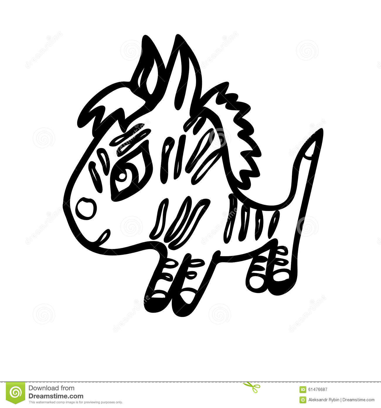 The Little Zebra Stock Illustration
