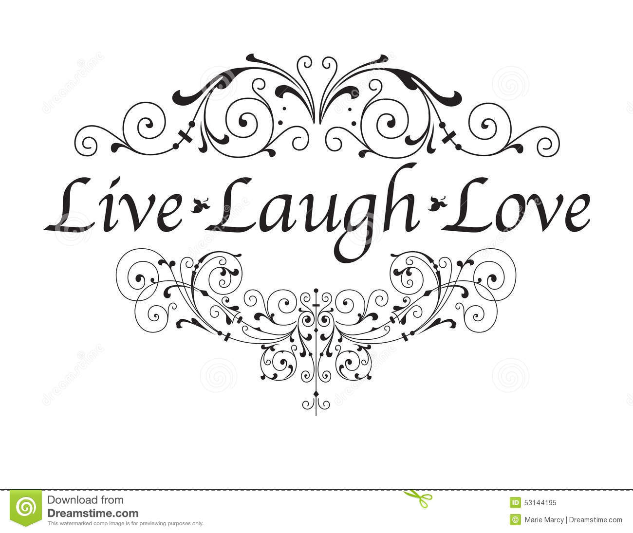 Live Laugh Love Stock Vector Illustration Of Quotes