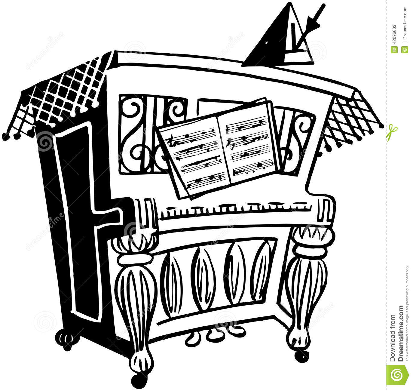 Lively Piano Stock Vector