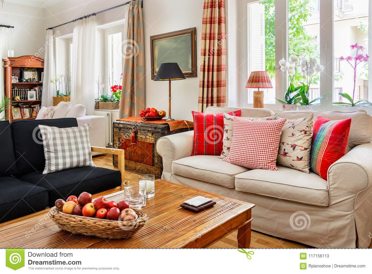Living Room Interior Country