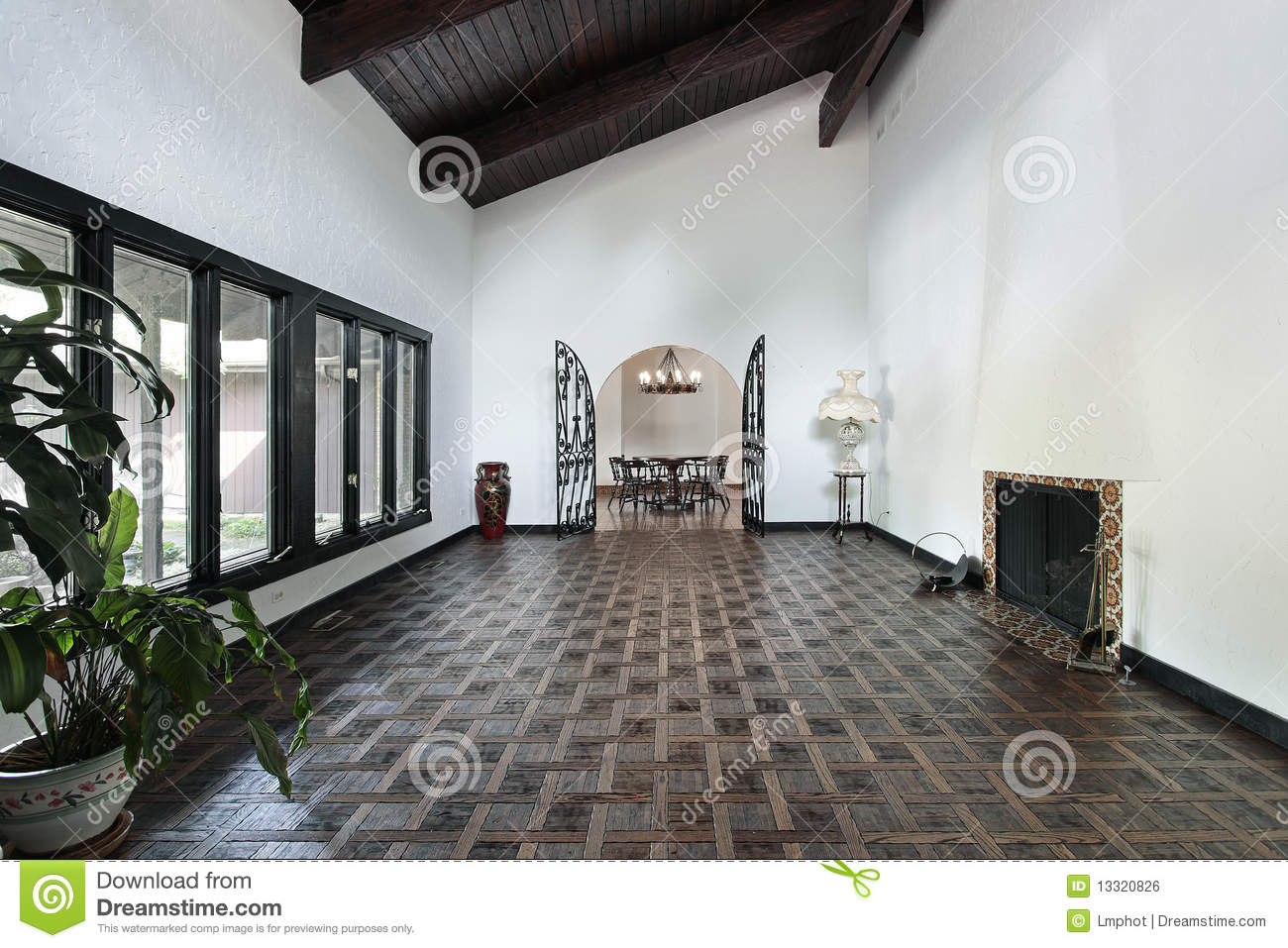 Living Room With Parquet Floor Royalty Free Stock Image